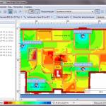 Отображение информации об уровне сигнала в ПО TamoGraph в режиме планирования сети